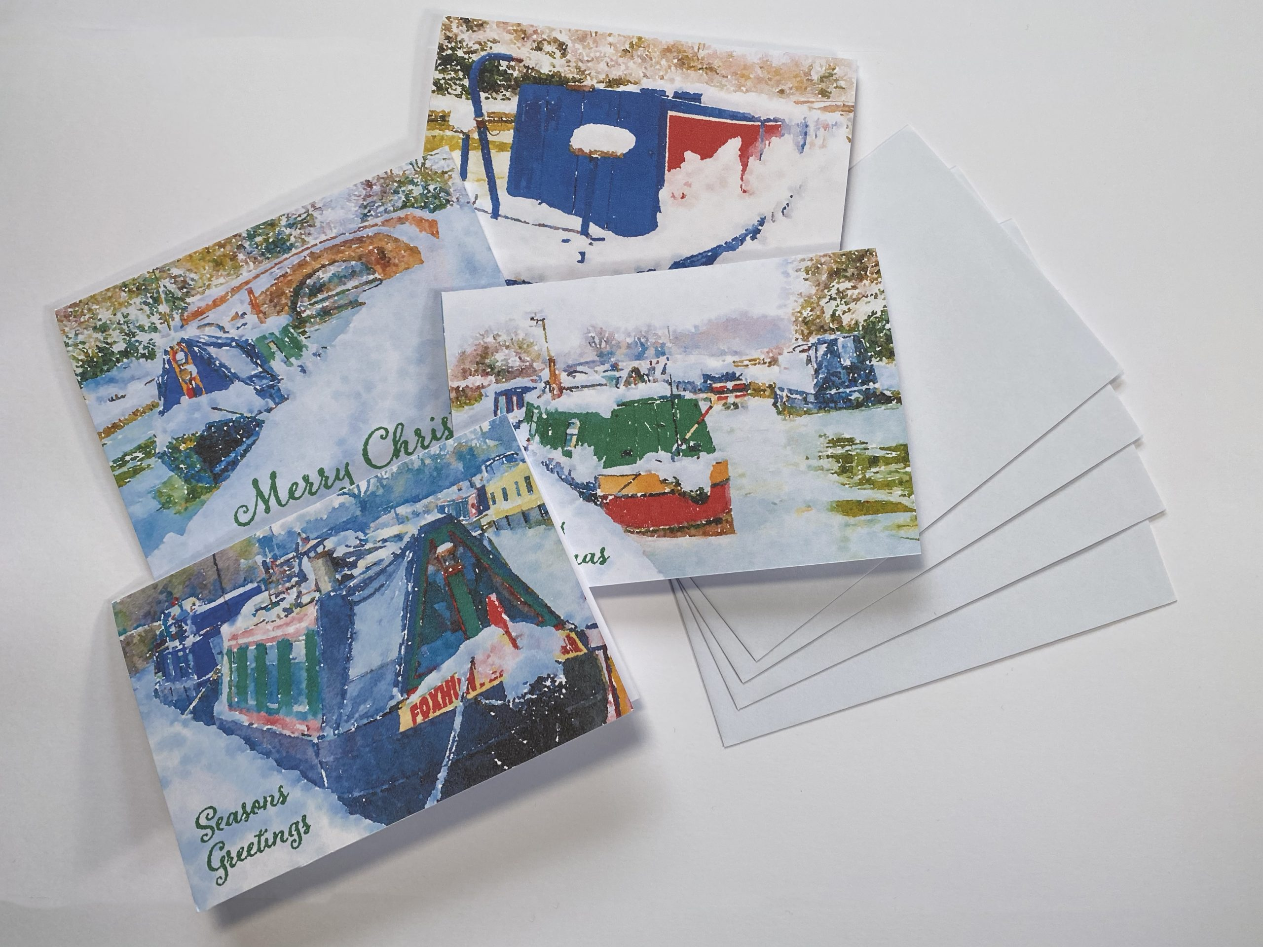 Narrow Boat Christmas Cards